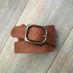"Zara ""Paisley"" Leather Belt"